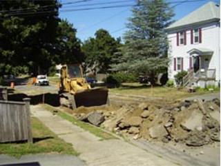 Drainage Installation on Glenhaven 2007