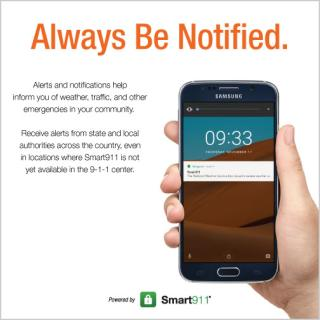 Always Be Notified document with cell phone showing an alert.